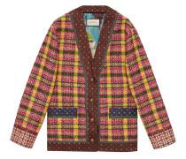 Karierte Tweed-Jacke