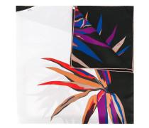 Seidenschal mit Blätter-Print