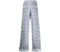 Weite Hose mit Bandana-Muster