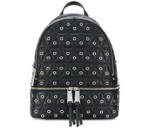 quilted eyelet backpack