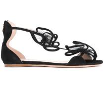 Sandalen mit Tüll-Applikation - women