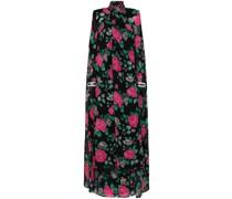 Rückenfreie Robe mit Blumen-Print