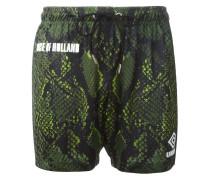 x Umbro Shorts mit Schlangenleder-Print