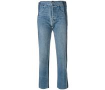 Dekonstruierte Cropped-Jeans