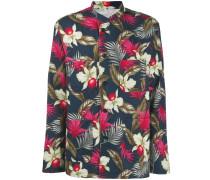 Jacke mit Hawaii-Blumen