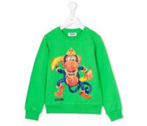 Sweatshirt mit Affen-Print