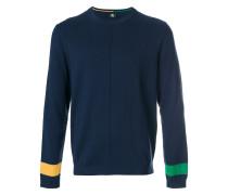 Sweatshirt mit gestreiften Ärmelenden