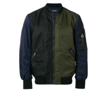 tricolour bomber jacket