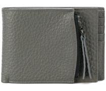 zip compartment billfold wallet