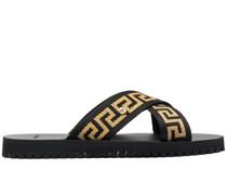 Sandalen mit Greca-Motiv