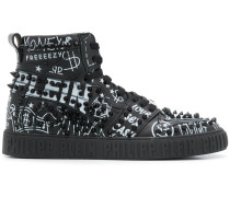 'Graffiti' High-Top-Sneakers