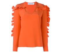 ruffled detail blouse