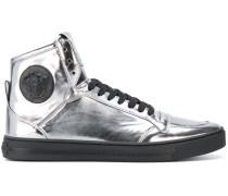 """High-Top-Sneakers mit """"Medusa""""-Schild"""