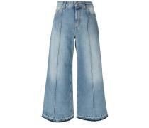 Cropped-Jeans mit weitem Bein