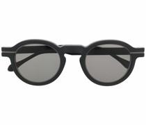 Matte Sonnenbrille im Panto-Design