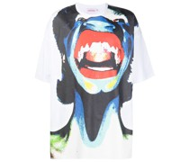 T-Shirt mit Scream-Print
