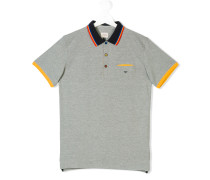 Teen contrast-trimmed polo shirt