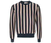 Gestreiftes Seiden-Sweatshirt