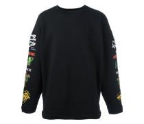 Sweatshirt mit bestickten Ärmeln - men