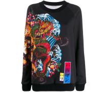 Sweatshirt mit Tiger-Print