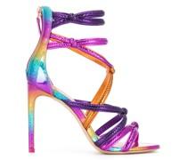 Sandalen mit Regenbogenmuster