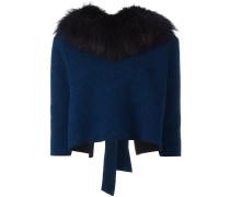 Pullover mit Fuchspelzkragen