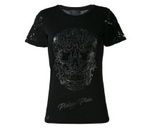 T-Shirt mit Totenkopf-Verzierung