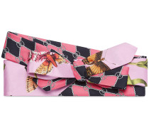 Garden chains print silk headband