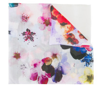 Schal mit floralem Print - women - Seide/Wolle