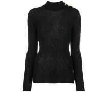 button-embellished turtleneck jumper