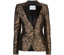 Taillierter Blazer mit Zebramuster