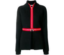 contrast trim cardi-coat