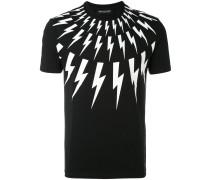 T-Shirt mit Blitz-Motiven