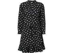Langärmeliges Kleid mit Taillenschnürung