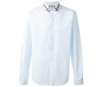 Hemd mit besticktem Kragen - men - Baumwolle