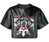 Cropped-T-Shirt mit Adler