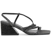 Gewebte Sandalen mit Blockabsatz