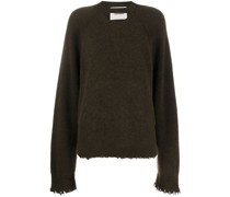 Gerippter Distressed-Pullover