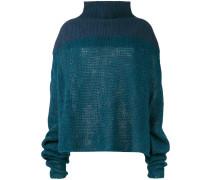 Pullover mit tiefen Schultern
