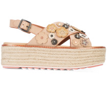 tea rose espadrilles sandals