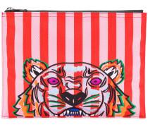 striped Tiger clutch bag