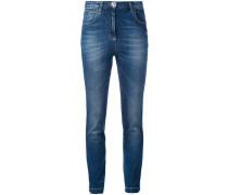 Skinny-Jeans mit Paillettenherz