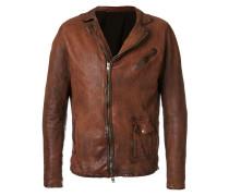 crinkle effect biker jacket