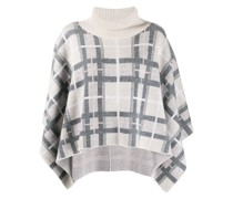 Poncho mit Argyle-Muster