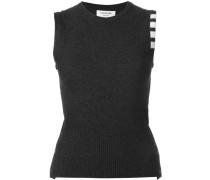 sleeveless contrast sweatshirt