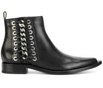 braided chain ankle boots