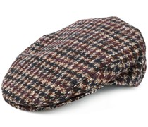 checkered knitted hat