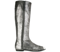 Stiefel im Metallic-Look