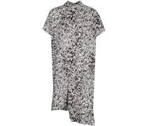 Hemdkleid mit Blatt-Print