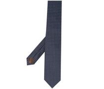Krawatte mit aufgestickten Quadraten
